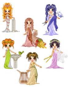 Cartoon Greek Gods and Goddesses