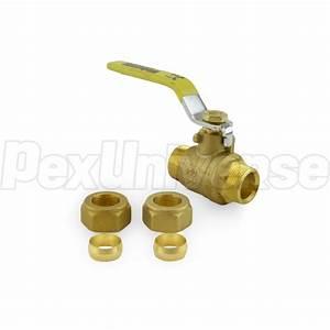 Webstone 40632w  1  2 U0026quot  Compression Brass Ball Valve  Lead