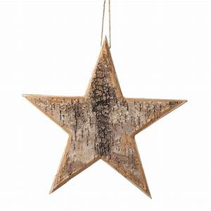 Birch Bark Wooden Star
