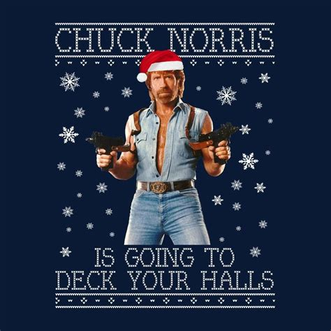 abba in christmas jumpers chuck norris deck your halls knit s t shirt
