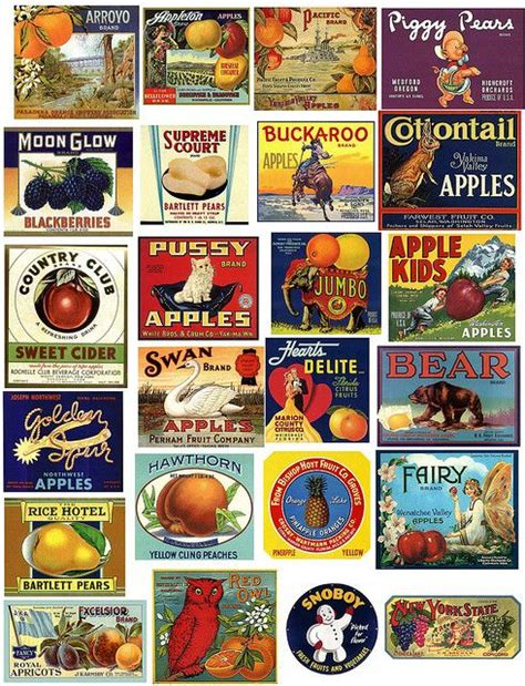 cuisines vintage collage sheet vintage labels and collage on