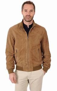 Veste Homme Col Mouton : blouson cuir velours homme itallo la canadienne blouson nubuck et daim camel ~ Dallasstarsshop.com Idées de Décoration