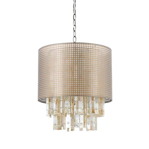 af lighting lola 1 light white shell pendant with