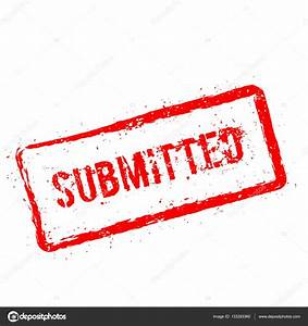 Submitted red rubber stamp isolated on white background ...
