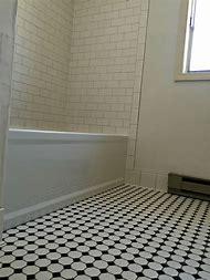 White Octagon Bathroom Floor Tile