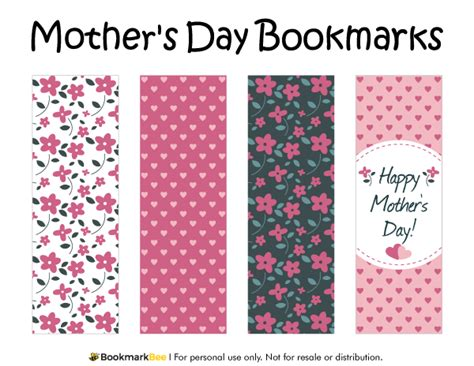 Bookmarkers Template by Free Printable S Day Bookmarks The Pdf
