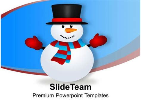 snowman vector cartoon christmas powerpoint templates