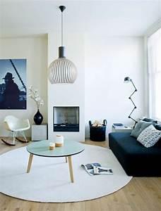 la table basse scandinave simplicite et beau style With canapé scandinave convertible avec tapis enfant rond