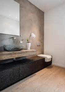 badezimmer grau braun modernes badezimmer im rustikalen landhausstil łazienki bad inspiration design