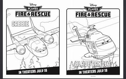 Planes Coloring Rescue Fire Disney Pages Sheets