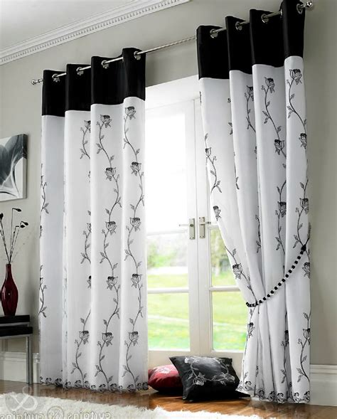 black and white curtain panels black and white curtains design home design ideas 7845