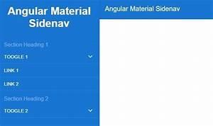 Angular Material Design Style Sidenav Menu Angular Script
