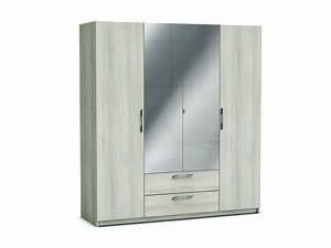 Armoire Fille Conforama : armoire 4 portes 2 tiroirs jupiter coloris acacia vente ~ Teatrodelosmanantiales.com Idées de Décoration