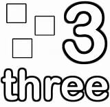 Square Coloring Three Printable Preschool Math Sheets Games sketch template