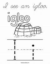 Igloo Coloring Letter Pages Noodle Twisty Cursive Starts Ii Outline Twistynoodle Built California Usa Letters sketch template