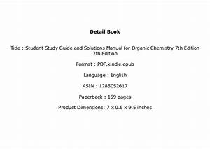 Ebook    Student Study Guide And Solutions Manual For