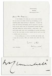 lot detail winston churchill typed letter signed With churchill letters