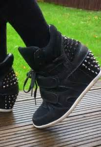 Spike High Top Hidden Wedge Sneakers