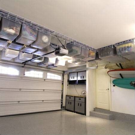 overhead garage storage systems image detail for tote trac system 10 tote garage storage