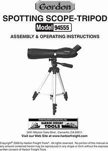 Harbor Freight 20 60 X 60mm Spotting Scope With Tripod