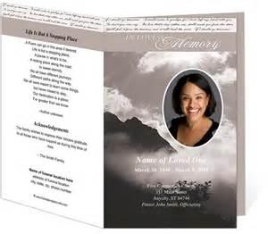 memorial program template printable funeral bulletins template outdoor theme