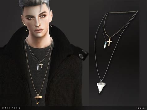 colours   tsr category sims  male necklaces