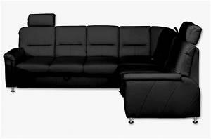 Canape d39angle convertible detroit en simili cuir noir de for Canapé d angle qualité