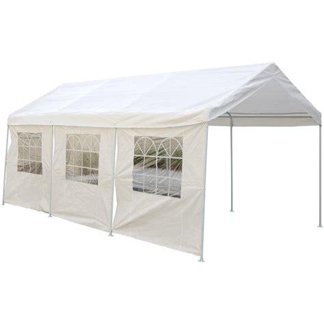 canopy carport  side walls  garage car shelters  sportsmans guide