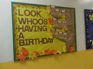 Fall Birthday Bulletin Board Ideas