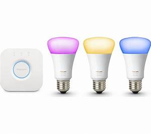 Philips Hue E27 : buy philips hue colour wireless bulbs starter kit e27 ~ Melissatoandfro.com Idées de Décoration