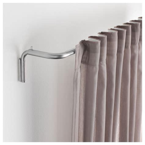 no drill curtain rods ikea tidpunkt curtain rod set nickel plated 120 210 cm ikea