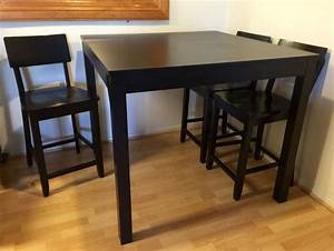 Ikea Table Bar : ikea bjursta bar table 4 chairs 43 1 4x43 1 4 square furniture in san bruno ca ~ Teatrodelosmanantiales.com Idées de Décoration