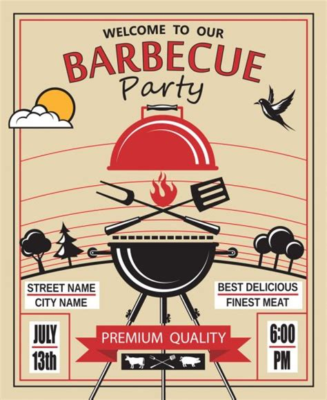 images bbq time  bbq grilling time stock vector