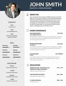 50 most professional editable resume templates for jobseekers for Best cv template