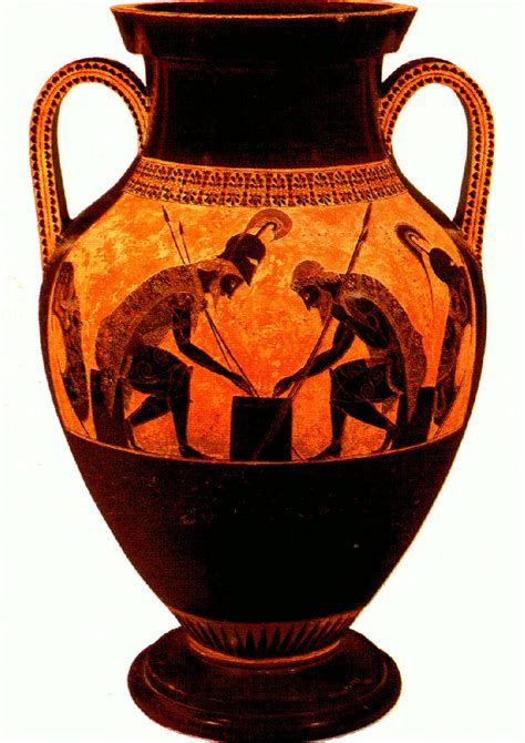 flashcards table  ancient vases
