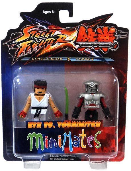 Street Fighter X Tekken Ryu Vs Yoshimitsu Minimates Figure Set