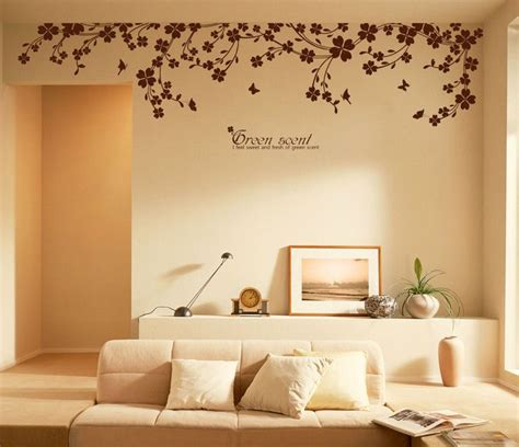 wall stickers home decor 90 quot x 22 quot large vine butterfly wall decals removable