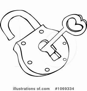 Padlock Clipart #1069334 - Illustration by djart