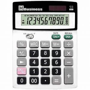 Calculatrice De Bureau 10 Chiffres M Business Vente De