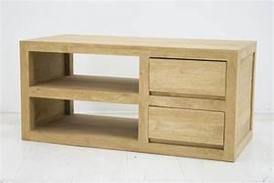 Meuble Bas Bois : meuble bas tak1 en hva massif de qualit de thalande ~ Teatrodelosmanantiales.com Idées de Décoration