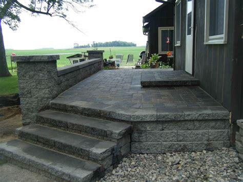 patio paver designs paver patio steps leading edge landscapes