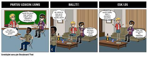Sociālais Stāsts - Kolēģu Spiediens Storyboard