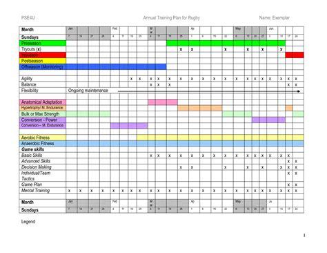 Training Calendar Template Free Costumepartyrun