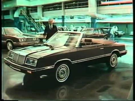 Chrysler Iacocca by Iacocca Chrysler Lebaron Commercial 1982