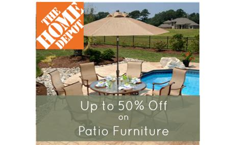 home depot patio furniture up to 50 southern savers
