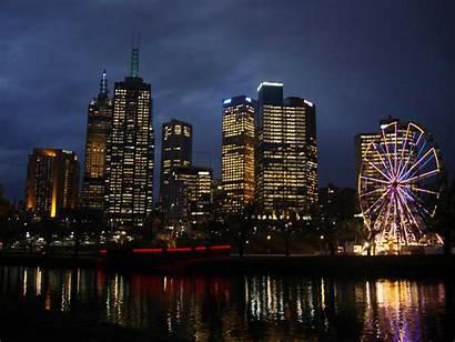 Melbourne Australia Cbd River Yarra Dusk Victoria