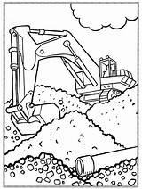 Kleurplaten Kleurplaat Graafmachine Coloring Graafmachines Ausmalbilder Vrachtwagen Baufahrzeuge Bouwvakker Bouw Printen Coloriage Thema Deere Milou Juf Sheets Shovel Colouring Race sketch template
