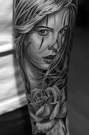 Interessante Ideenunterarm Taetowierung Gesicht by La Catrina La Catrina Tattoos