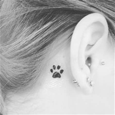 tattoo pawprints   ear   polyvore