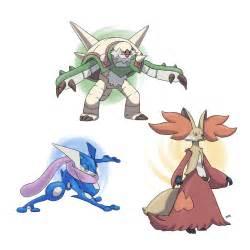 Pokemon X Y Starters Final Evolutions